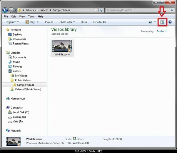 How to get rid of the preview pane in the windows explorer