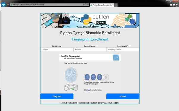 Can Python read biometrics inputs from users? - Quora