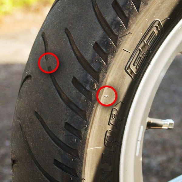 How to tell if the tires on your motorcycle need to be