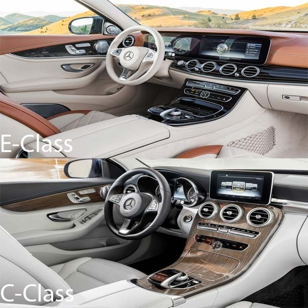 What is the main difference between Mercedes E-class and Mercedes C