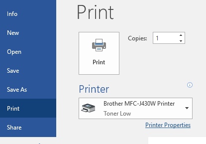 NOTE This Will Change The Print Preferences Only Till You Close Word When Open It Again Switches Back To Default Eg Color