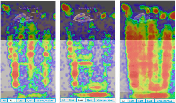 Are there any mobile app analytic tools that offer heat maps for iOS