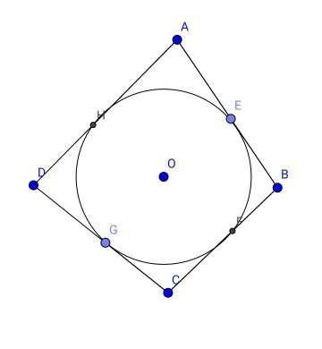 If the quadrilateral abcd is drawn to circumscribe a circle what because tangents drawn to an external point from a circle are equal ccuart Images