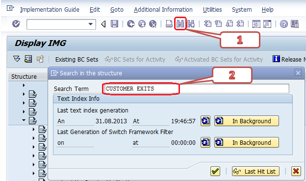 How to find exits in debugging in SAP ABAP - Quora