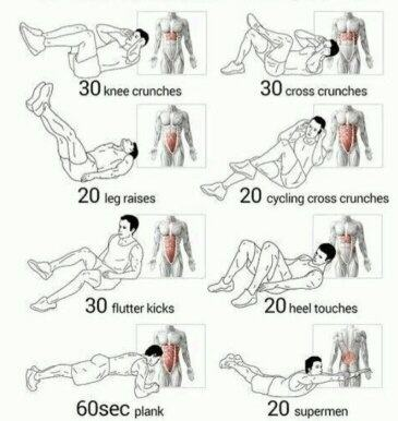 Best Exercises To Get A Six Pack