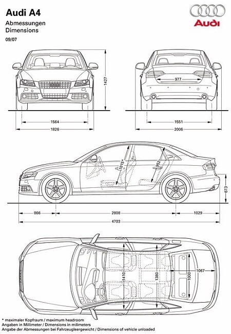 Audi S4 Lease >> What are the dimensions of an Audi A4? - Quora
