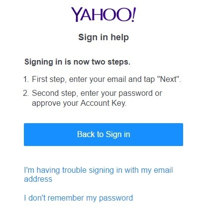 how to change yahoo email id name
