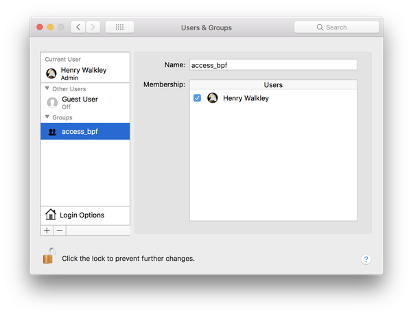 Why am I able to open Wireshark and capture packets in macOS