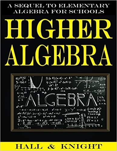 higher algebra by hall and knight pdf