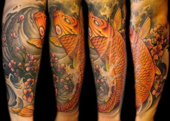 what are some koi fish tattoo designs for a forearm quora. Black Bedroom Furniture Sets. Home Design Ideas