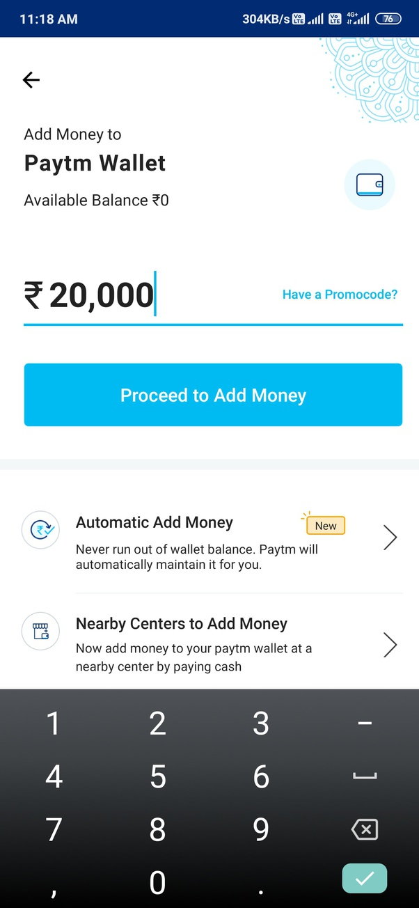can i add money to paytm wallet if i don't have a card