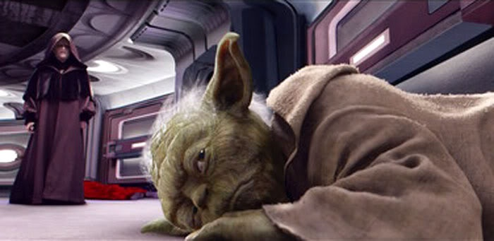 Image result for yoda defeated