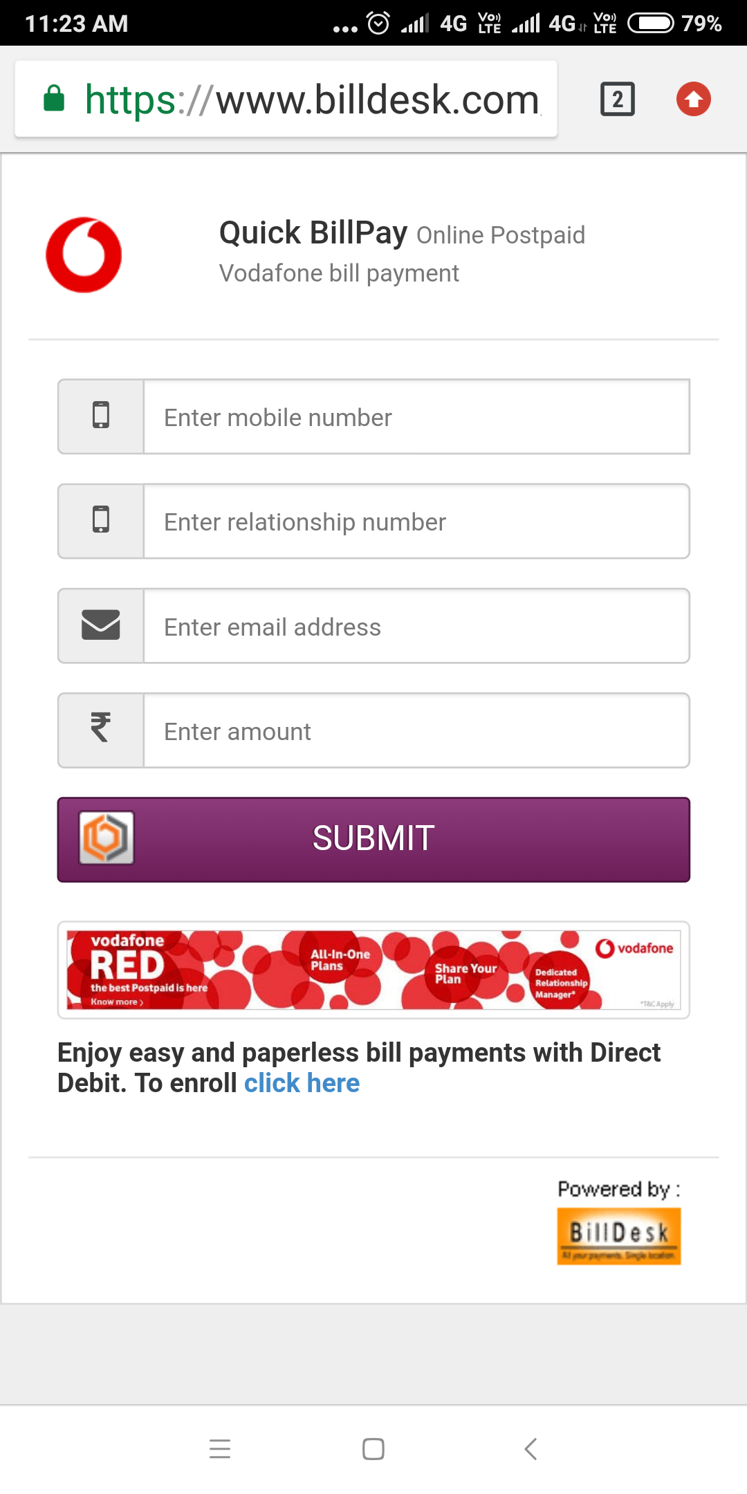 Vodafone Bill Pdf India