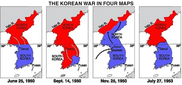 Image result for Korean war maps