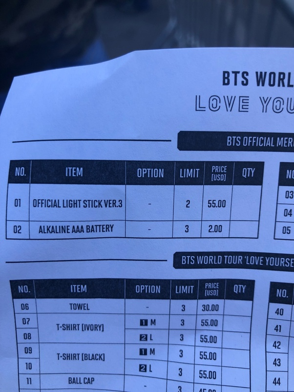 Did you attend BTS's Love Yourself concert tour? What was