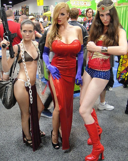 Girls wearing sexy halloween costumes