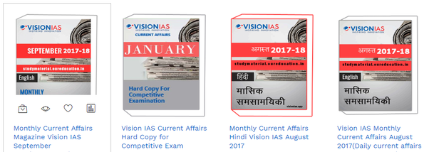 Why is Vision IAS famous for its current affairs series