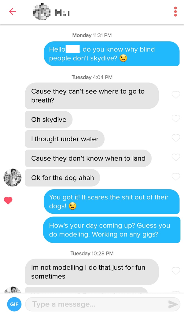 What S The Best Opening Line You Ve Heard On Tinder Quora