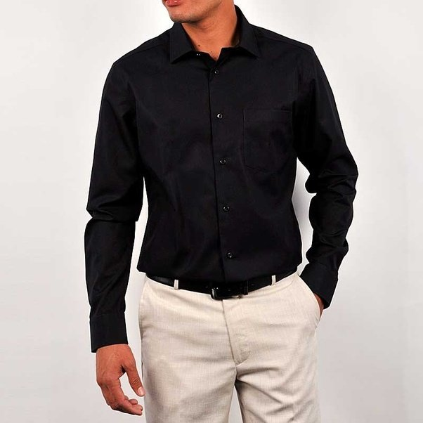 Which should be the best trouser colour for Black shirt for ...