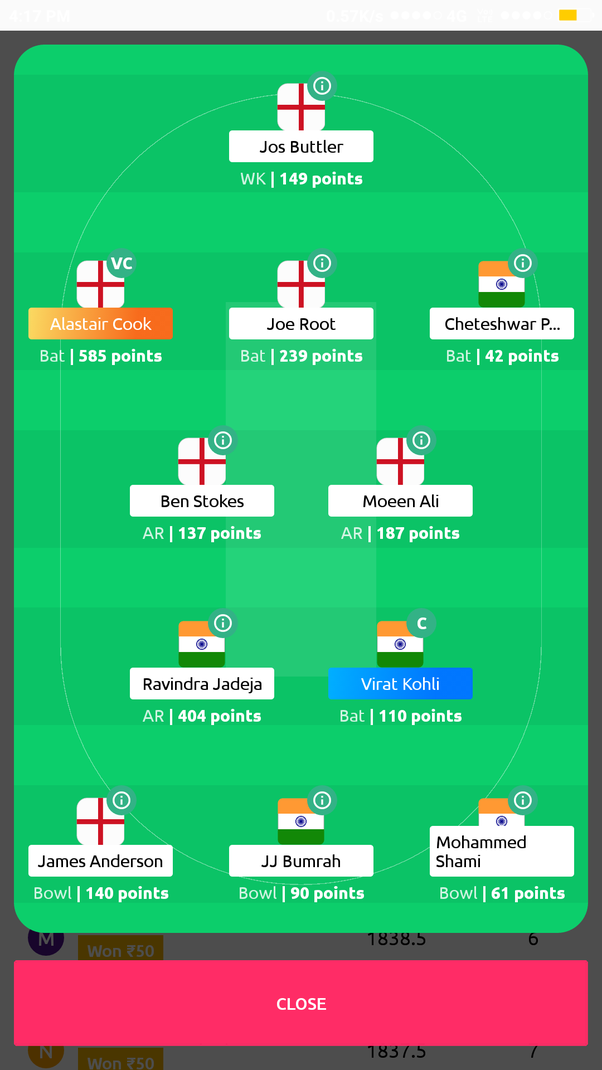 Are there some alternate for dream11 ? Like some other fantasy