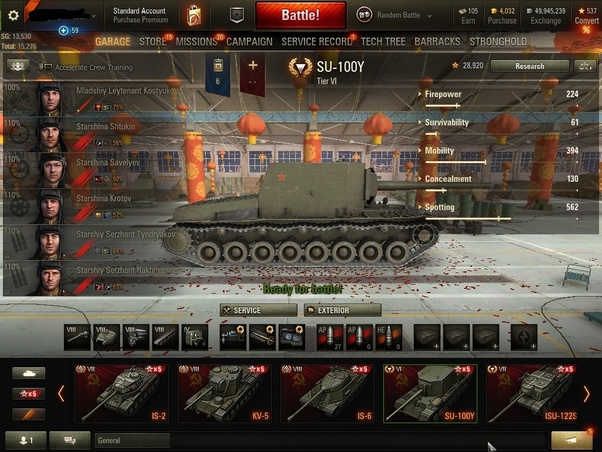 WOT su-100Y Matchmaking