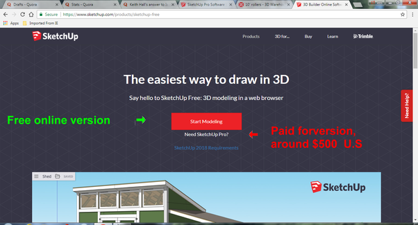 sketchup make 2017 free trial