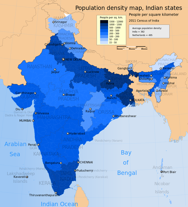 population of india in 1000 ad