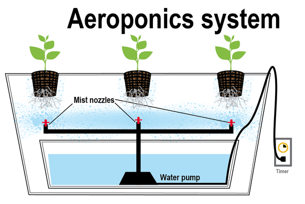 How does aeroponic vertical farming function?