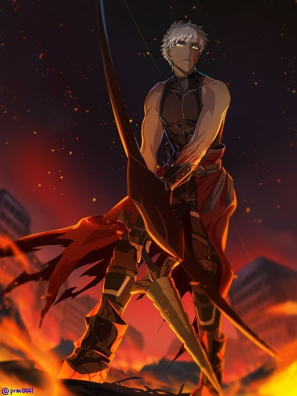 In Fate How Good Are Emiya Skills With A Bow Compared To Archer Class Like Heracles Arjuna Atalanta And Chiron Quora