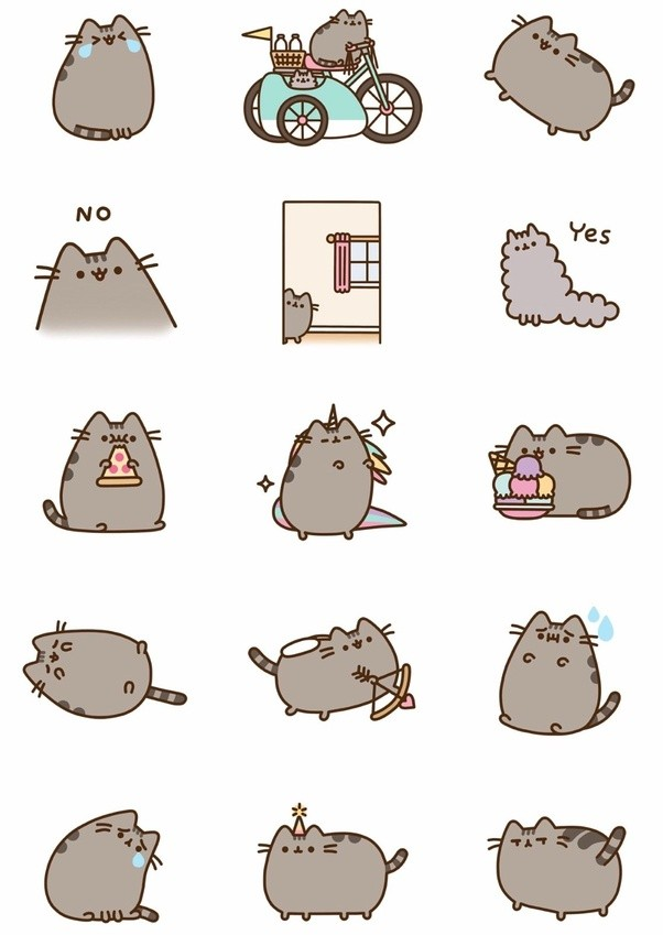 ... Pusheen Animated Stickers ...