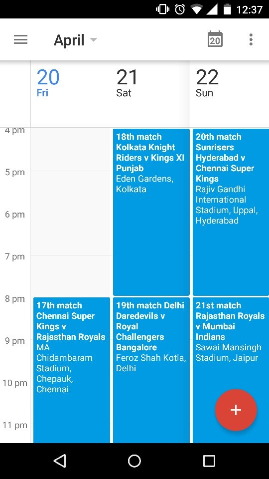 How to add IPL schedules and fixtures to my mobile - Quora