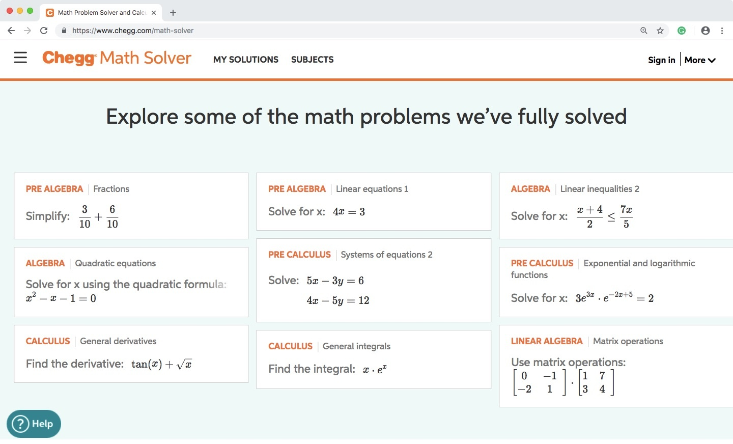 What is the syllabus for other math on Chegg? - Quora