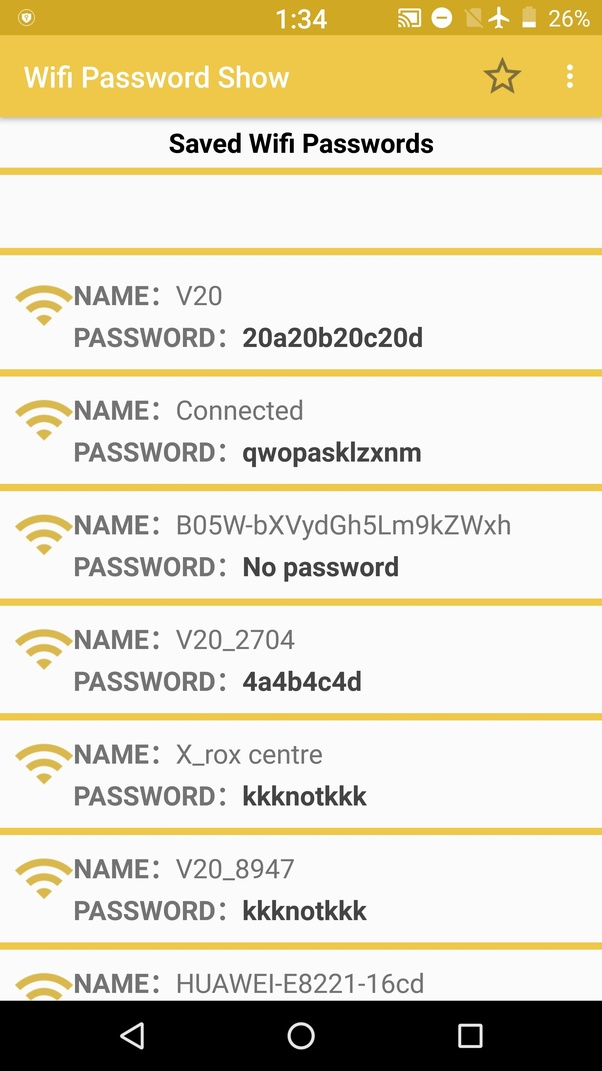 Where are WiFi passwords stored on Android? - Quora