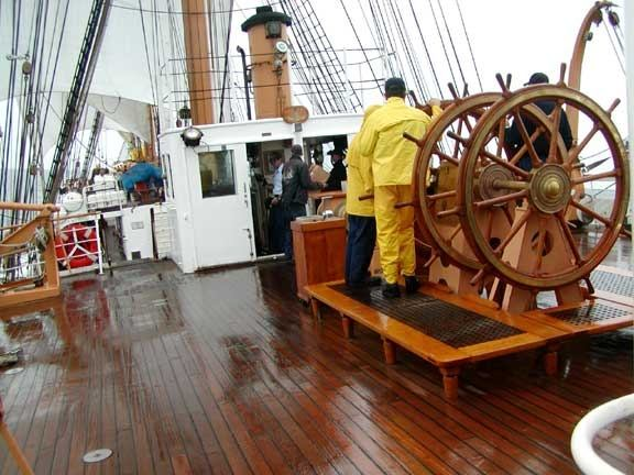 How does a ship's steering wheel control the ship? - Quora