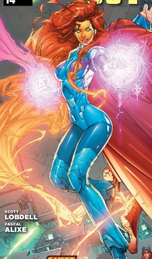 This Is A Very Cool Looking Comparatively Modest Costume Of Starfire