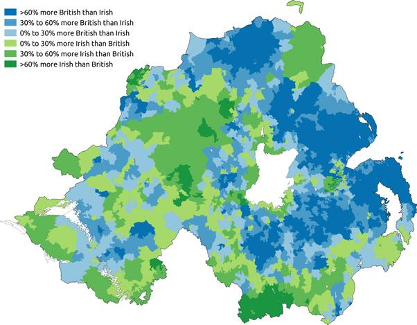 Do the Irish in Northern Ireland consider themselves Irish or