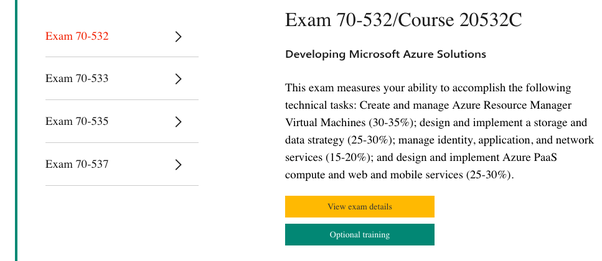 What is the equivalent exam in Microsoft Azure to Amazon