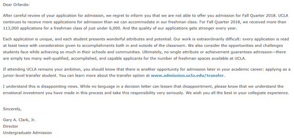What does your college acceptance or rejection letter looks like for more information regarding my collegeuniversity application processplease refer to the links below spiritdancerdesigns
