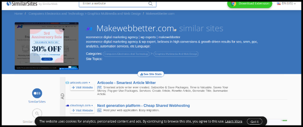 Is there a tool for finding similar websites? - Quora