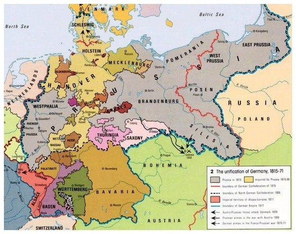What was germany like before world war 1 quora world war i a map of germany prior to unification in 1871 gumiabroncs Gallery
