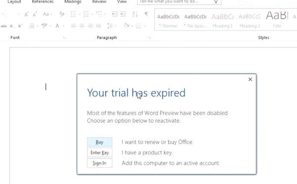 Microsoft Office Free Trial >> How To Reset The Free Trial Of Microsoft Office Quora