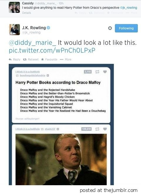 What if the whole Harry Potter story was written in Draco's point of