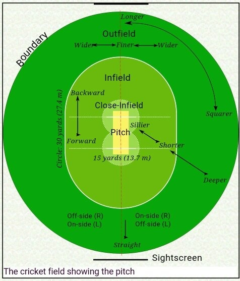 Diagram of cricket field