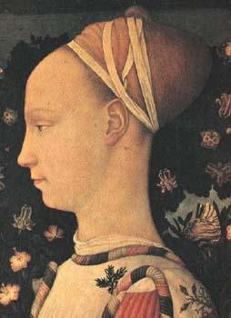 Antonio Pisanello, U201cPortrait Of Ginerva Du0027Esteu201d, 1433 1438. Back Of Head Is  Possibly A Balzo.