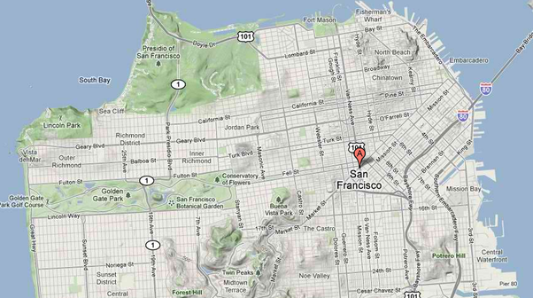Where Can I Find A Good Map Of San Francisco That Includes - How to determine elevation on google maps