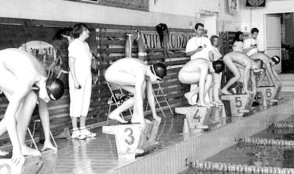 Naked swim class