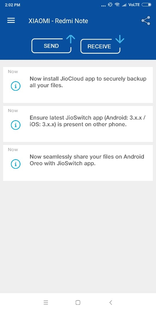 jioswitch app download karna hai