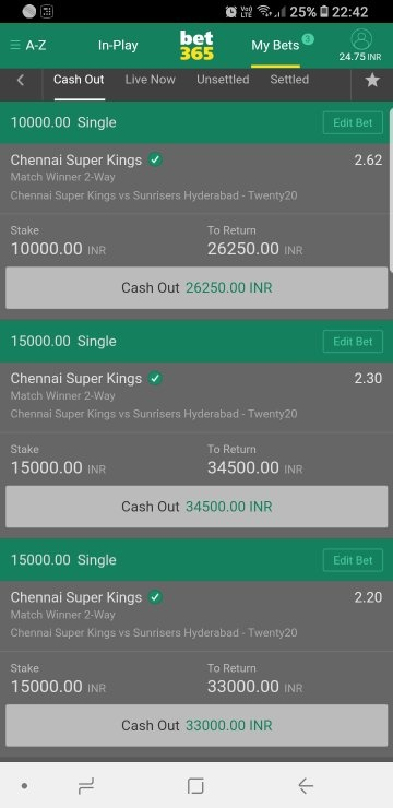 Has anyone from India ever won money by betting on Bet365