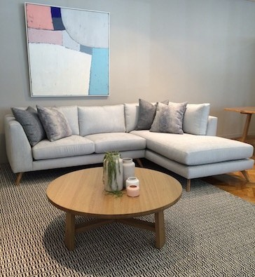 Customisable Bianca Sofa Range And Otway Round Coffee Table, Both From  Urban Rhythm