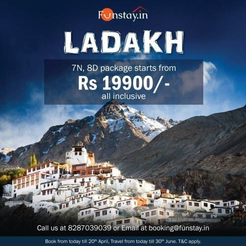 Leh Ladakh Tour Packages Cost From Mumbai
